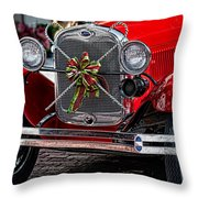 Christmas Grillwork Throw Pillow