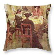Christmas Holidays, Pub. In Lasst Licht Throw Pillow