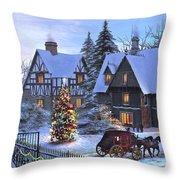 Christmas Homecoming Throw Pillow