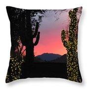 Christmas In Arizona Throw Pillow