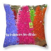 Christmas In Dixie Throw Pillow