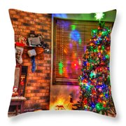 Christmas In Hdr Throw Pillow