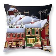 Christmas In Holly Ridge Throw Pillow