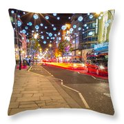 Christmas In London Throw Pillow