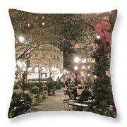 Christmas In Manhattan Throw Pillow