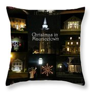 Christmas In Mauricetown  Throw Pillow