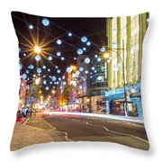 Christmas In Oxford Street Throw Pillow
