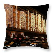 Christmas In Paris - Gallery Lights Throw Pillow