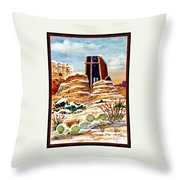Christmas In Sedona Throw Pillow