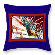 Christmas In Small Town America Throw Pillow