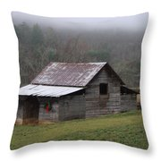 Christmas In The Mountains Throw Pillow