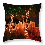 Christmas In The Sand Throw Pillow