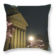 Christmas In Uptown Lexington 1 Throw Pillow