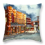 Christmas In Villa Rica 1950's Throw Pillow