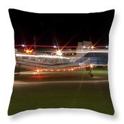 Christmas Light Porter Throw Pillow