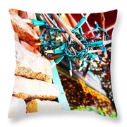 Christmas Lights In Window Throw Pillow