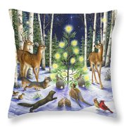Christmas Magic Throw Pillow by Lynn Bywaters