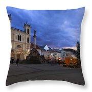 christmas market in Banska Bystrica Throw Pillow