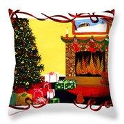 Christmas - Memories - Ribbons - Bows Throw Pillow