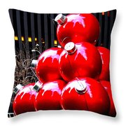 Christmas New York Style Throw Pillow