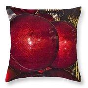 Christmas On 5th Avenue Manhattan 4 Throw Pillow