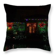 Christmas On East Lake 3 Throw Pillow