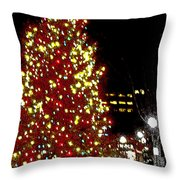 Christmas On Public Square Three Throw Pillow