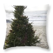 Christmas On The Beach 1 Throw Pillow
