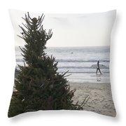 Christmas On The Beach 2 Throw Pillow