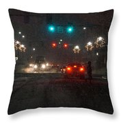 Christmas On The Streets Of Grants Pass Throw Pillow