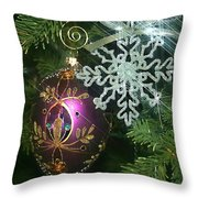 Christmas Ornaments 2 Throw Pillow