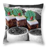 Christmas Pastries Throw Pillow