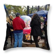 Christmas People Cold And Muddy Throw Pillow