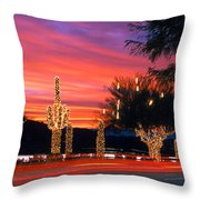 Christmas, Phoenix, Arizona, Usa Throw Pillow