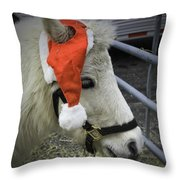 Christmas Pony Throw Pillow