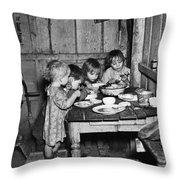 Christmas Poor, 1936 Throw Pillow