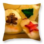Christmas Potato Stamps Throw Pillow