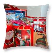 Christmas Presents Throw Pillow