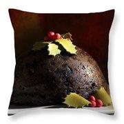 Christmas Pudding Throw Pillow