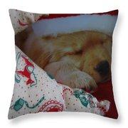 Christmas Pup Throw Pillow