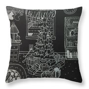 Christmas Scene Throw Pillow