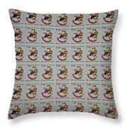 Christmas Seals 1981 Throw Pillow