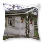 Christmas Shed Throw Pillow