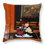 Christmas - Snowmen Collection- Fireplace Throw Pillow