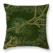 Christmas Songbird Throw Pillow