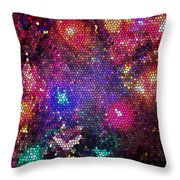 Christmas Stained Glass  Throw Pillow