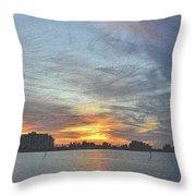Christmas Sunset 3 Throw Pillow