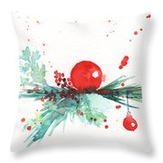Christmas Theme 3 Throw Pillow