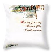 Christmas Tide Throw Pillow