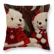Christmas Time Bears Throw Pillow